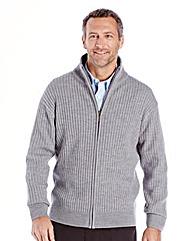 Premier Man Zipper Grey Cardigan