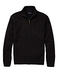 Premier Man Zipper Black Cardigan