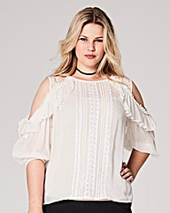 Ivory Victoriana Cold Shoulder