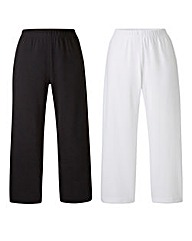 Pack 2 Jersey Crop Trousers Regular