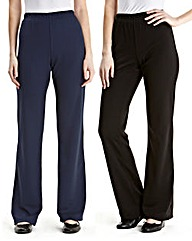 Pack of 2 Bootcut Trousers Regular