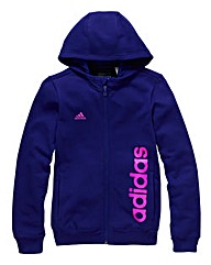 adidas Junior Girls Full Zip Hoodie