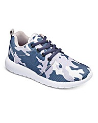 KD Go Camo Print Trainers Wide Fit