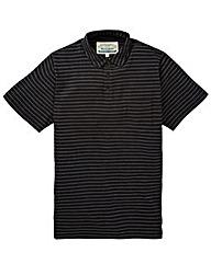 Jacamo Hacksaw Stripe Jersey Polo Reg