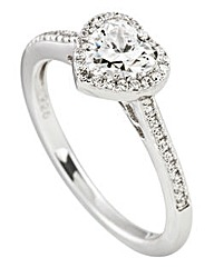 Diamonfire Sterling Silver Ring