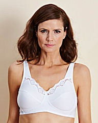 2 Pack Non Wired Black/White Bras