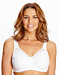 Non-Wired Full Cup White Sarah Bra