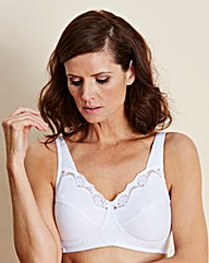White Sarah Cotton Rich Non Wired Bra