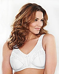 2 Pack Minimiser Non Wired White Bras