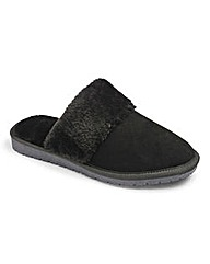 Heavenly Soles Real Suede Mules E Fit