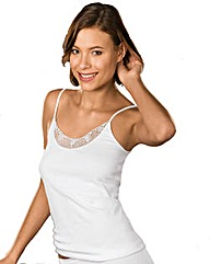 Naturana White Spaghetti Strap Top