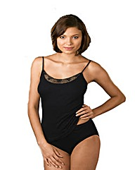 Naturana Black Spaghetti Strap Top