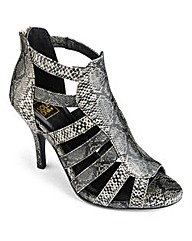 Sole Diva Heeled Gladiator Shoes EEE Fit