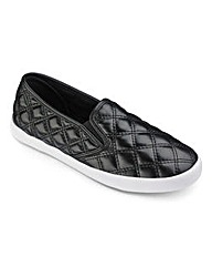 Sole Diva Quilted Slip On Pumps EEE Fit