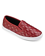 Sole Diva Quilted Slip On Pumps E Fit