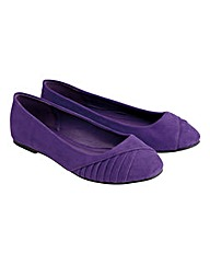 Joe Browns Pleated Ballerinas E Fit