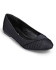 Joe Browns Pleated Ballerinas EEE Fit