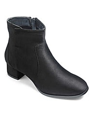 Sole Diva Block Heel Ankle Boots EEE Fit