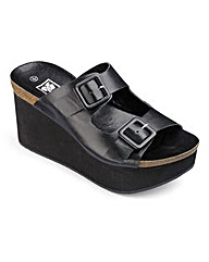 Buckle Wedge Sandal D Fit
