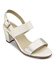 Sole Diva Block Heel Sandal Wide E Fit