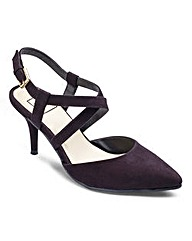 Sole Diva Cross Strap Courts EEE Fit