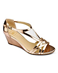 Sole Diva Low Wedge Sandal EEE Fit