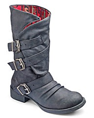 Blowfish Buckle Mid Calf Boot D Fit