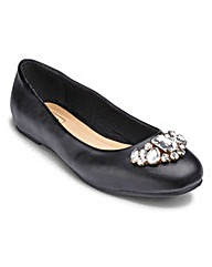 Sole Diva Jewelled Ballerina EEE Fit