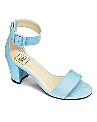 Sole Diva Block Heel Sandals Wide E Fit