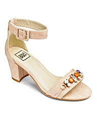 Sole Diva Jewelled Front Sandal EEE Fit