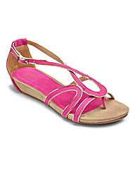 Sole Diva Cross-Over Sandal EEE Fit
