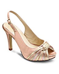 Sole Diva Peep Toe Slingback EEE Fit