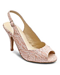 Sole Diva Lace Peep Toe E Fit