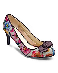 Sole Diva Printed Court Shoe EEE Fit