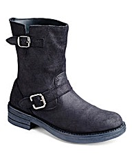 Vero Moda Leather Biker Boots D Fit