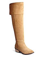 Sole Diva Over Knee Suede Boots EEE Fit