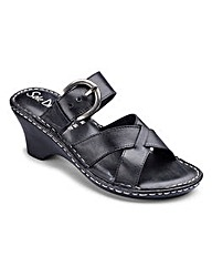 Heavenly Soles Buckle Wedge EEE Fit