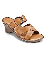 Heavenly Soles Buckle Wedge E Fit
