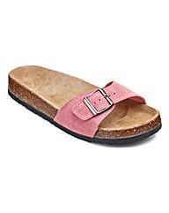 Sole Diva Buckle Footbed Sandal EEE Fit