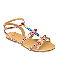 Sole Diva Strappy Jewelled Sandal E Fit
