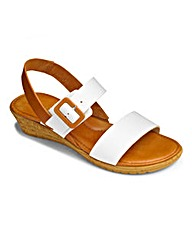 Lotus Low Wedge Buckle Sandals EEE Fit
