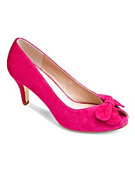 Lotus Suede Peep Toe Shoe EEE Fit