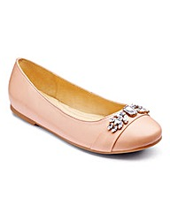 Sole Diva Diamante Ballerina Wide E Fit