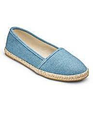 Sole Diva Espadrille Pump EEE Fit