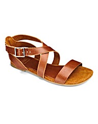 Sole Diva Leather Strappy Sandal EEE Fit