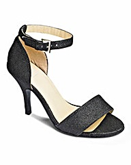 Sole Diva Strappy Heeled Sandal EEE Fit