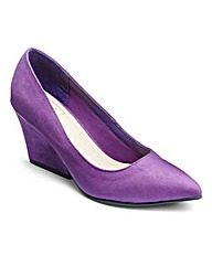 Sole Diva Microsuede Court Shoes EEE Fit
