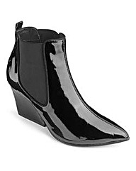 Sole Diva Patent Chelsea Boots EEE Fit