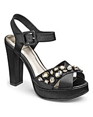 Sole Diva Jewelled Platforms EEE Fit