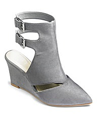 Sole Diva Buckle Wedge Shoes E Fit